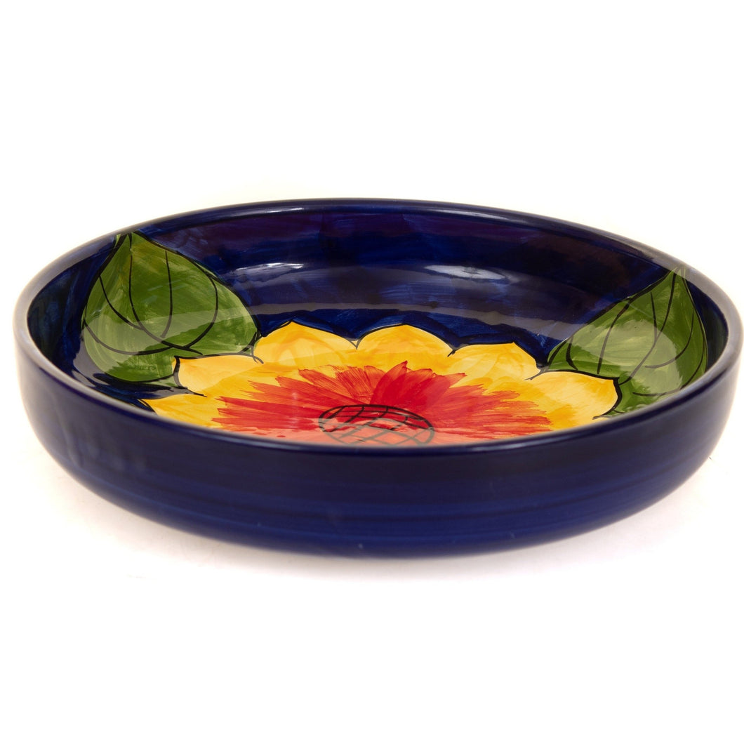 Sunflower - Large Shallow Bowl