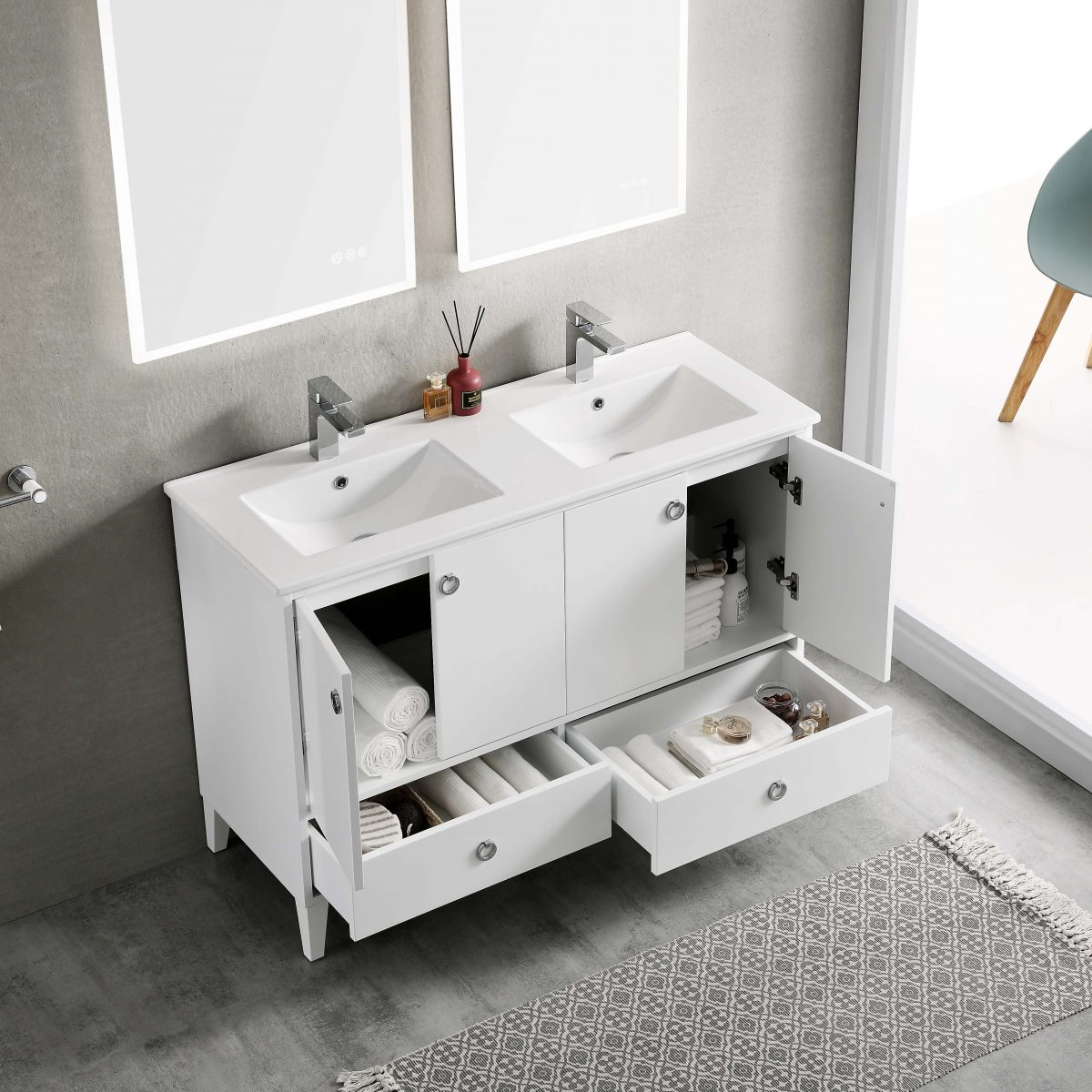 Lyon 48 Inch Vanity – Double Sinks