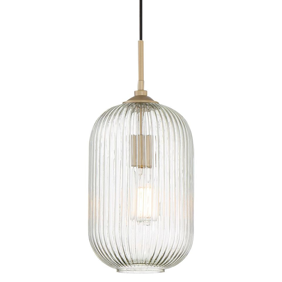 1 - Light Single Cylinder Pendant Brass Dust