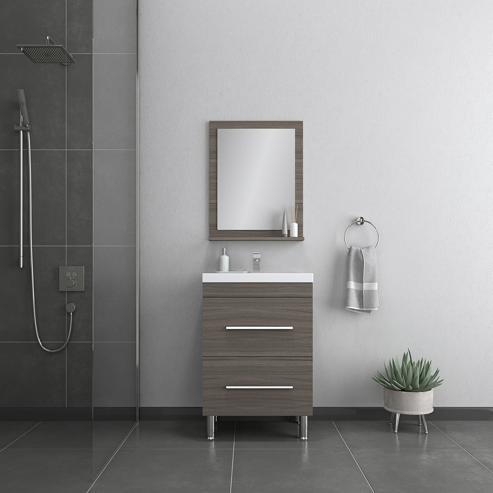 Ripley 24 inch Gray Vanity with Sink