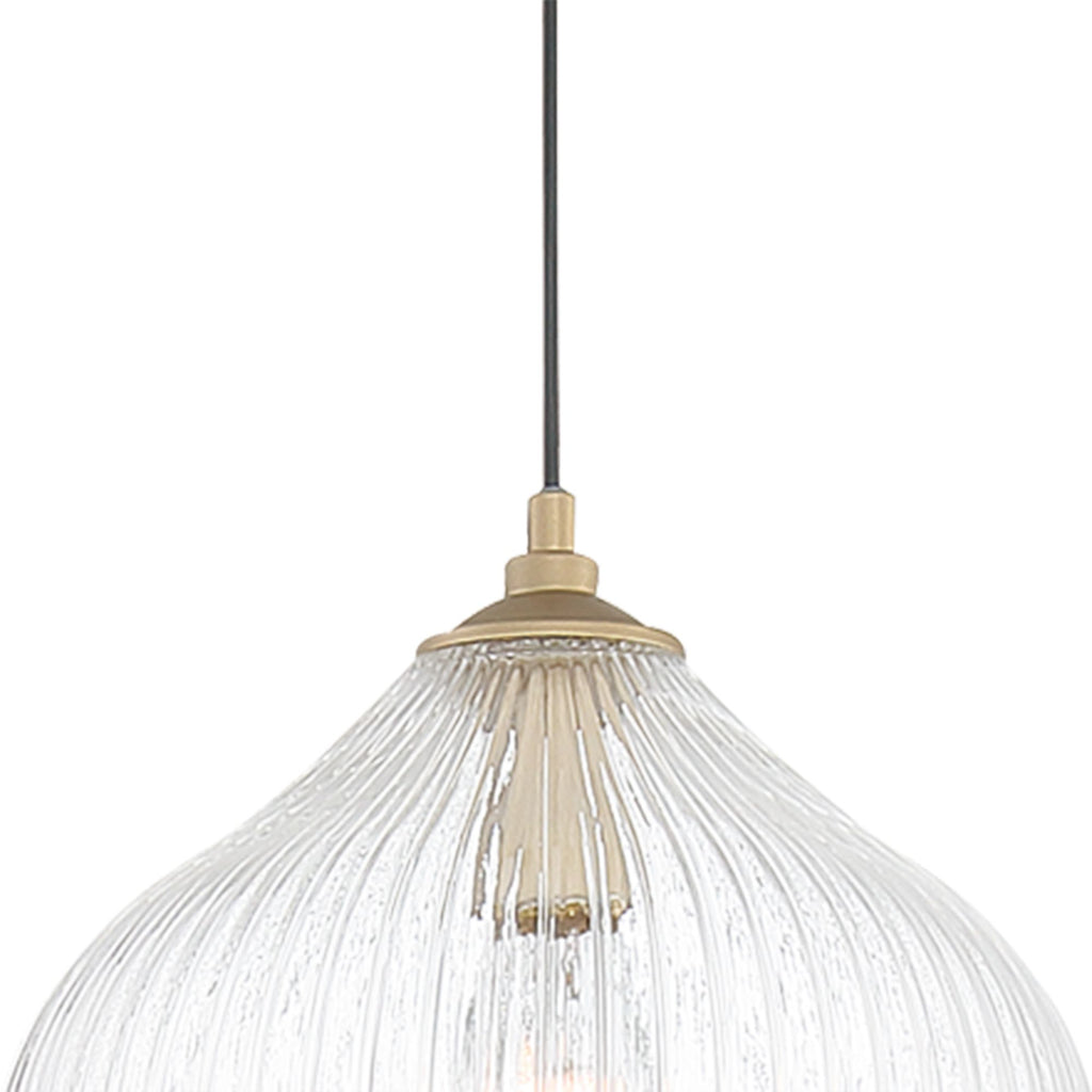 1 - Light Single Globe Pendant Brass Dust