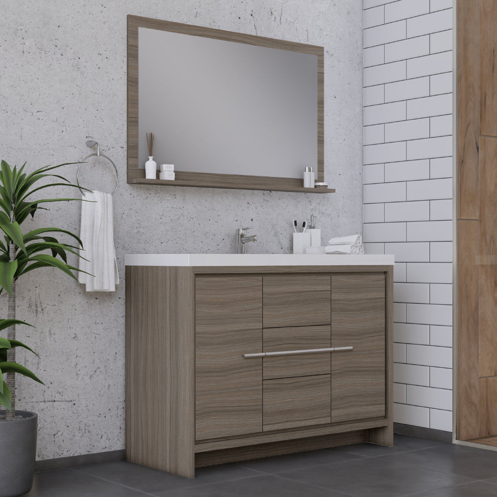 Sortino 48 inch Modern Bathroom Vanity Gray