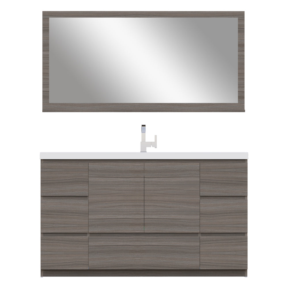 Paterno 60 inch Single Modern Freestanding Bathroom Vanity Gray