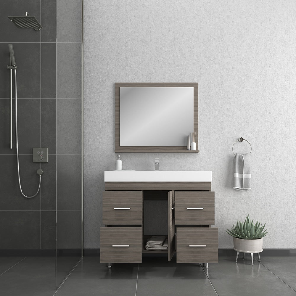 Ripley 39 inch Gray Vanity with Sink