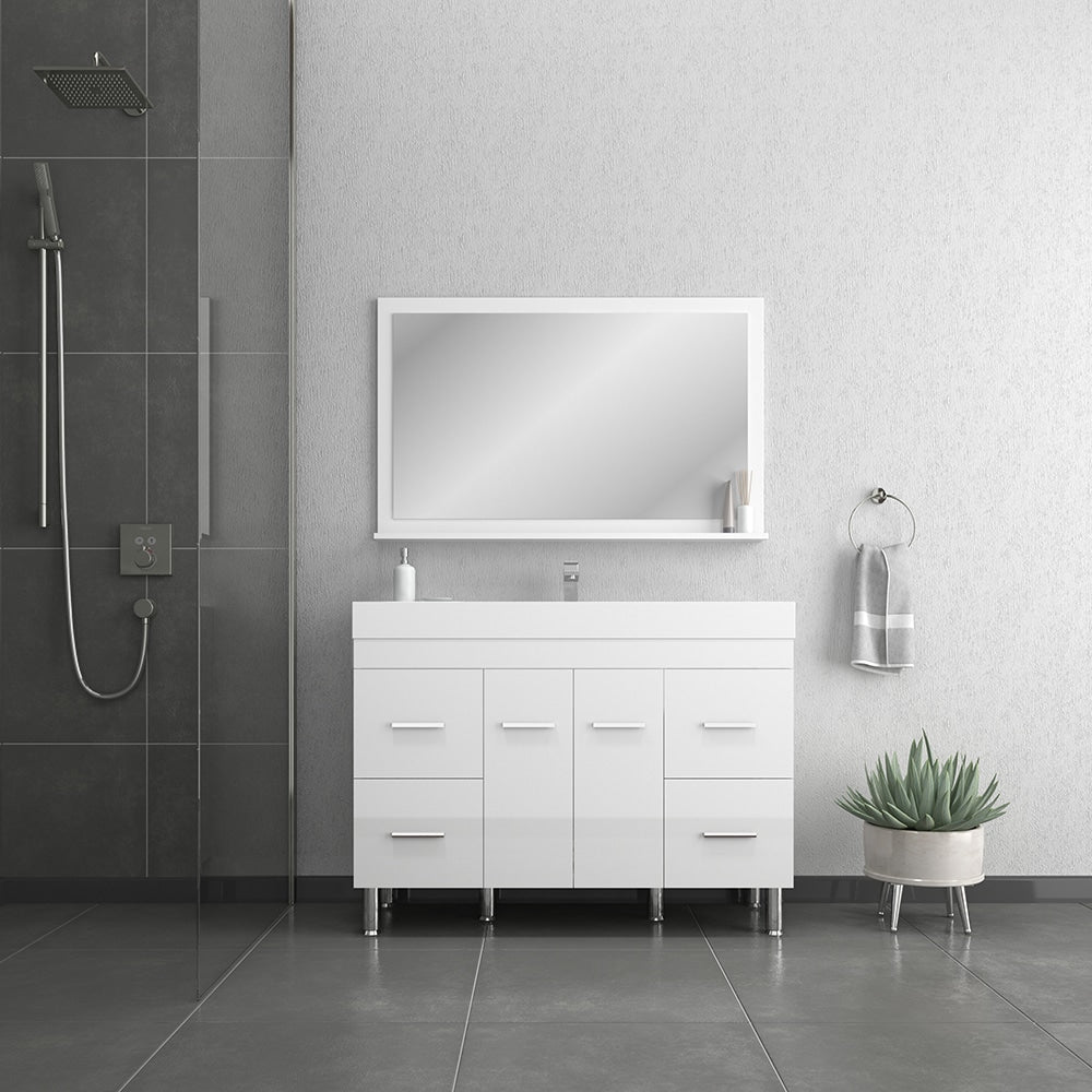 Ripley 48 inch White Vanity with Sink