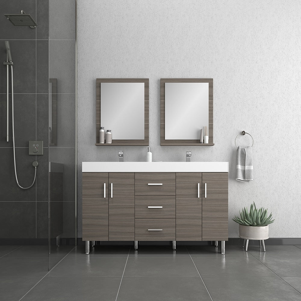 Ripley 56 inch Gray Double vanity with Sink