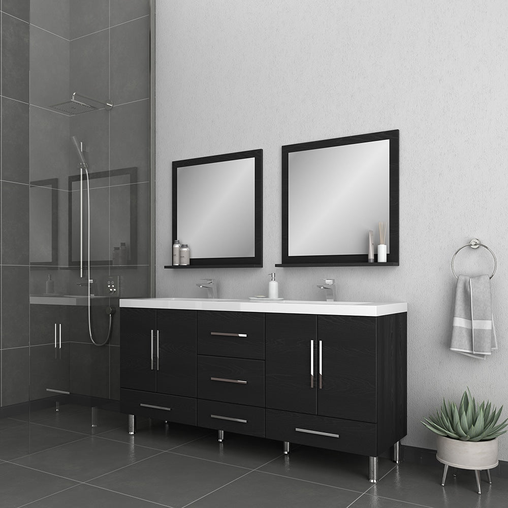 Ripley 67 inch Black Double Vanity with Sink
