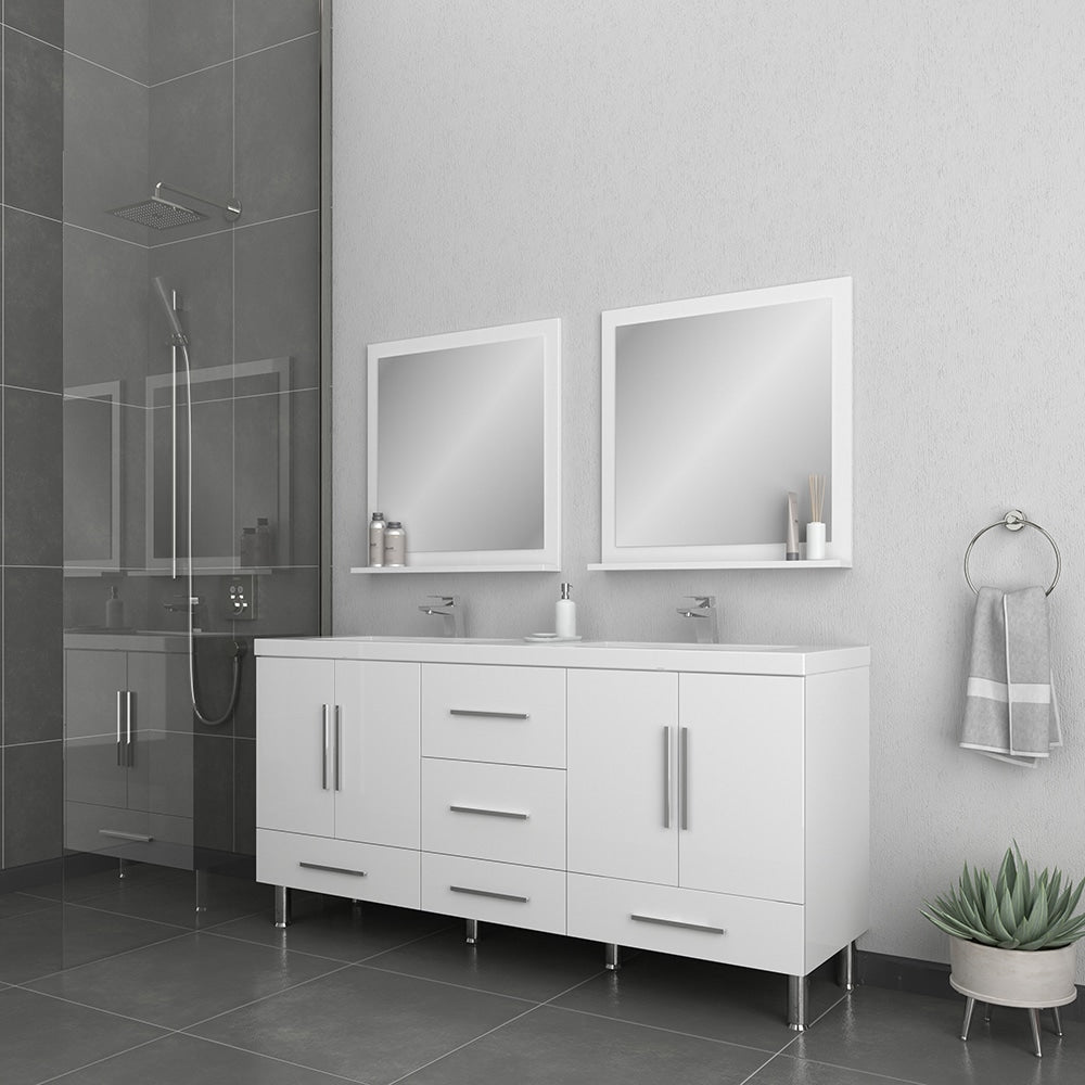 Ripley 67 inch White Double Vanity with Sink