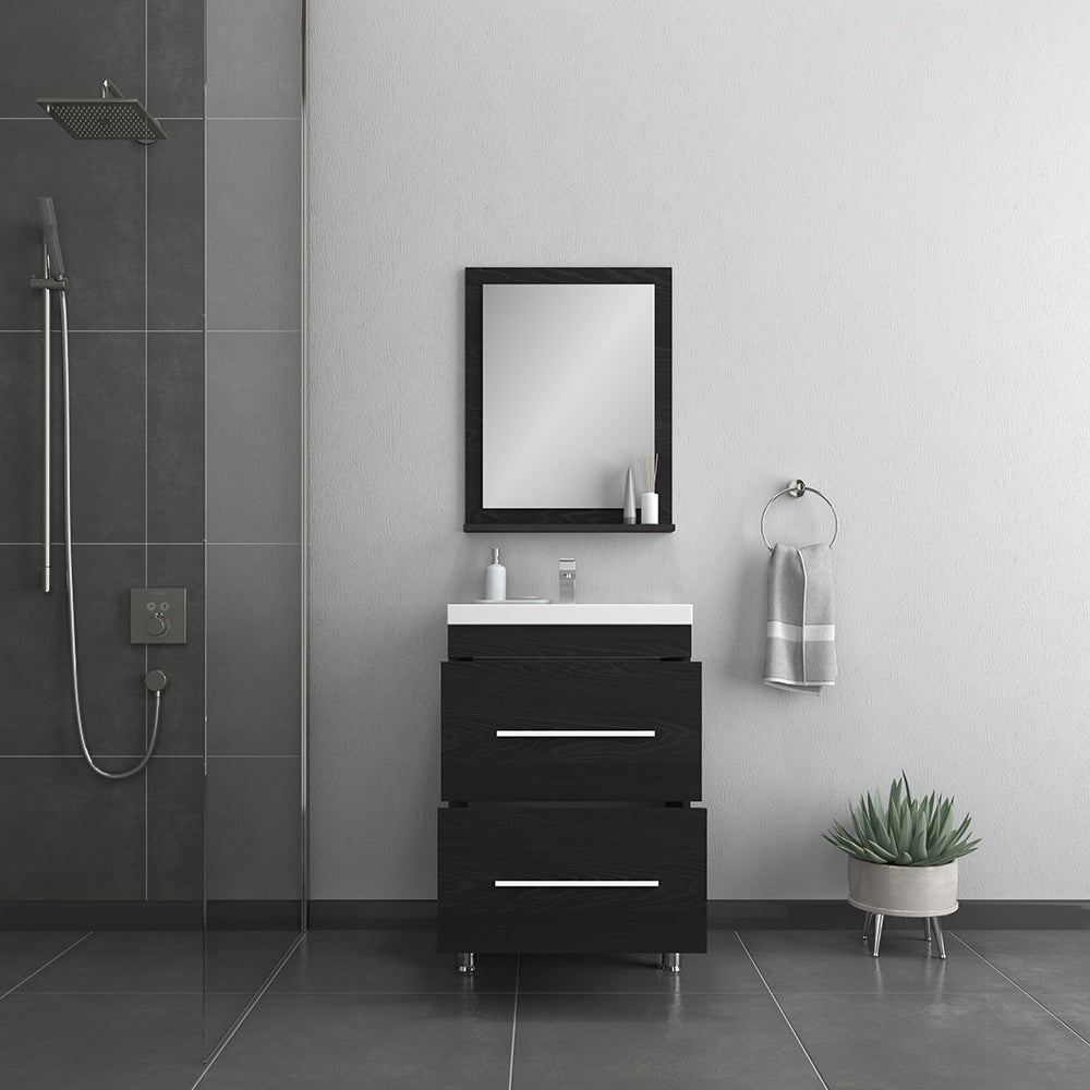 Ripley 24 inch Black Vanity with Sink