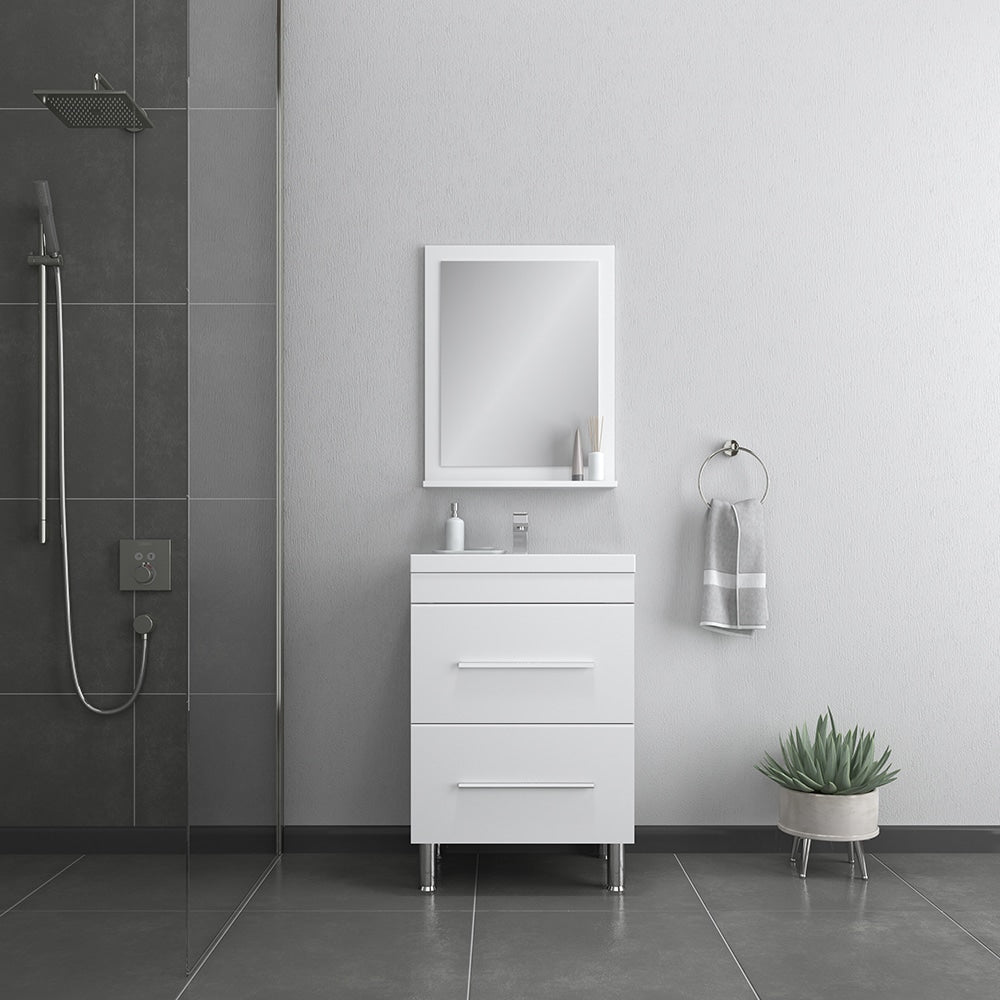 Ripley 24 inch White Vanity with Sink