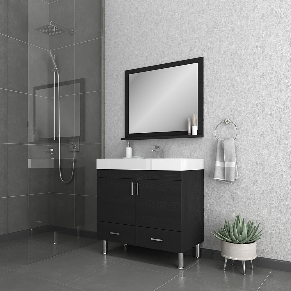 Ripley 36 inch Black Vanity with Sink