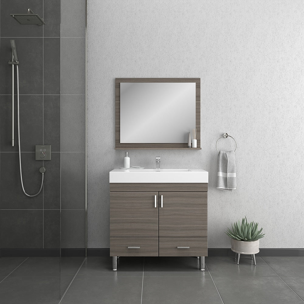 Ripley 36 inch Gray Vanity with Sink