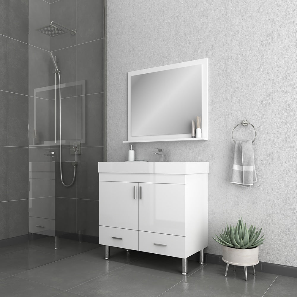 Ripley 36 inch White Vanity with Sink