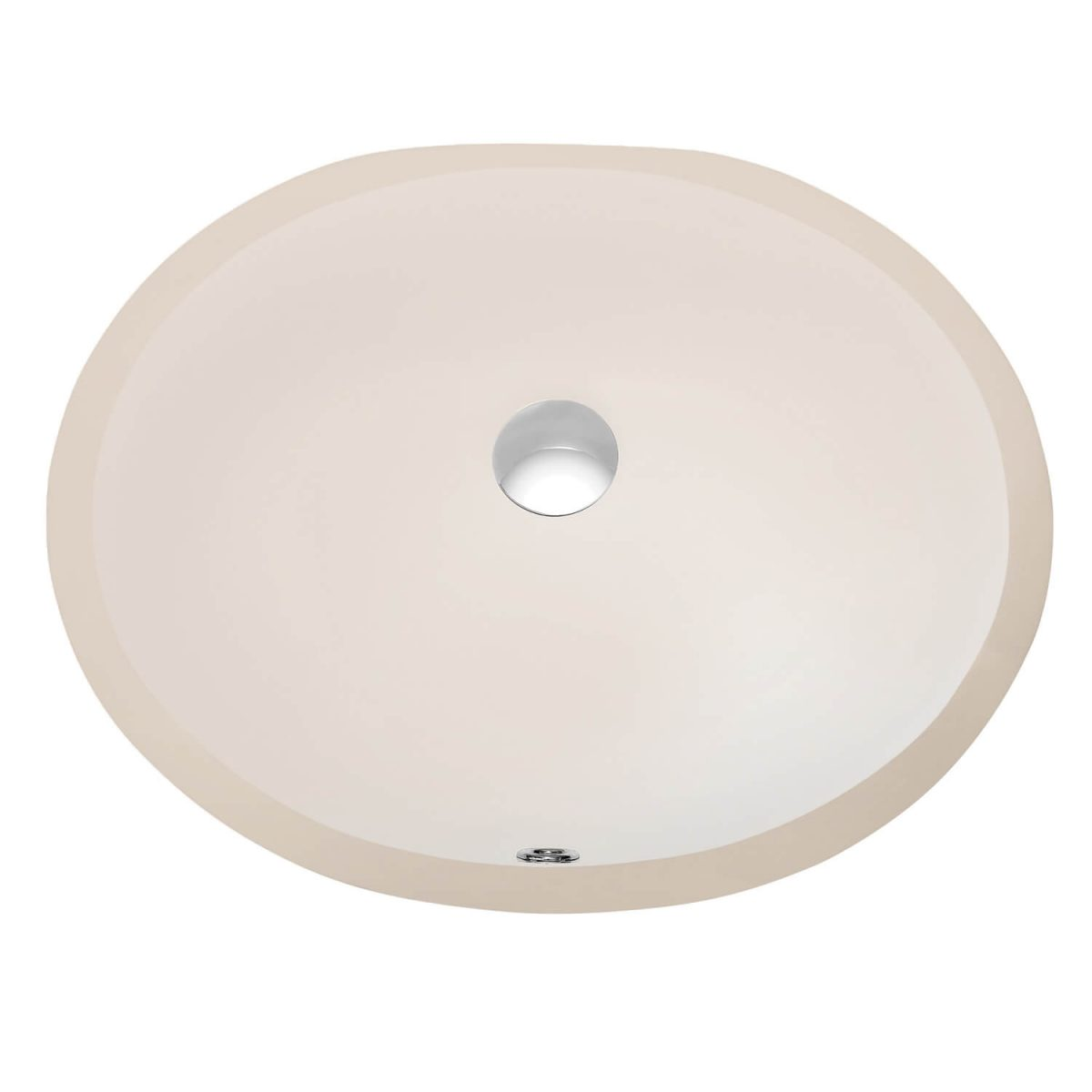 Undercounter Basin -Biscuit 17″ X 14″ Oval – C09 1714B