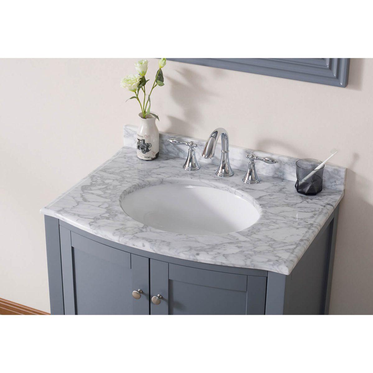 30″ Countertop – White Carrara Marble – CT5002 3022 03