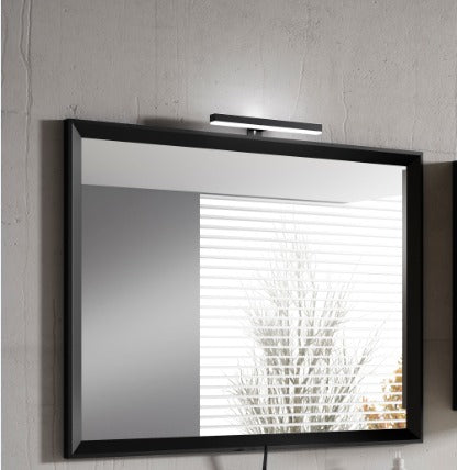 "24"" Black Décor Mirror"
