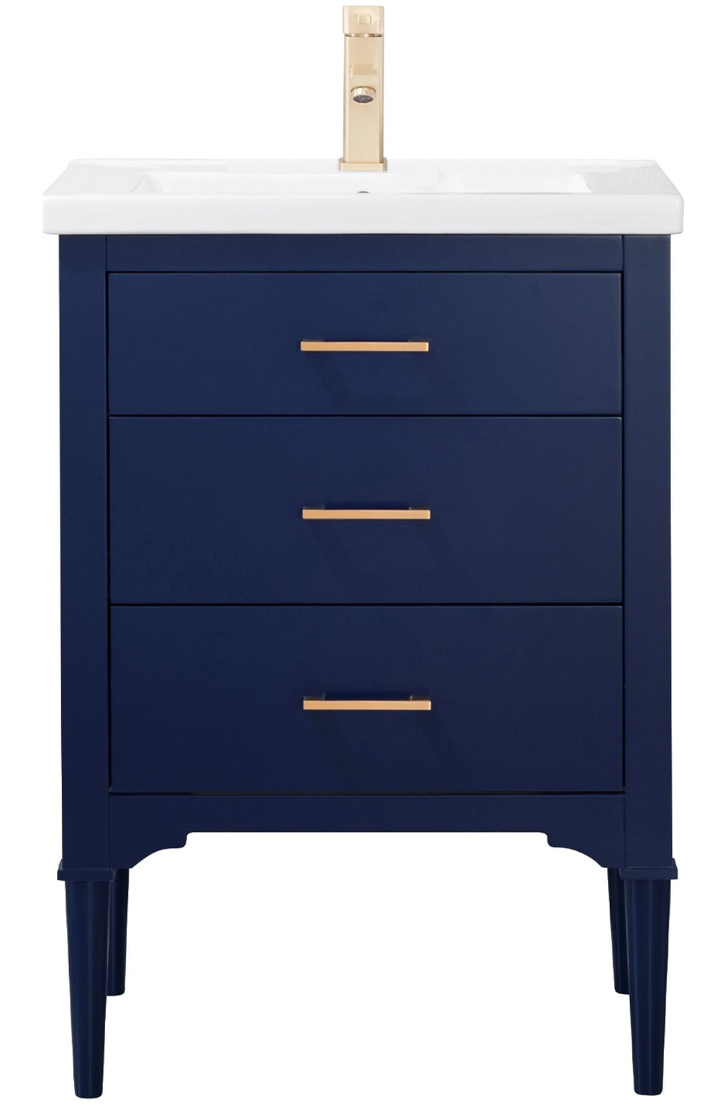 "Mason 24"" Single Sink Vanity In Blue"