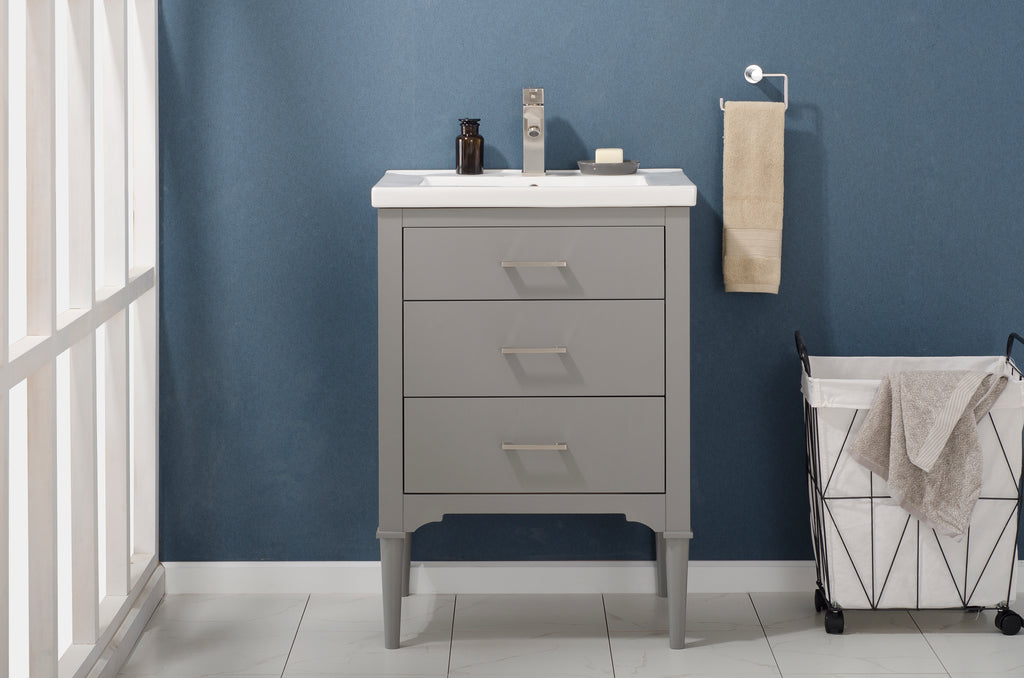 "Mason 24"" Single Sink Vanity In Gray"