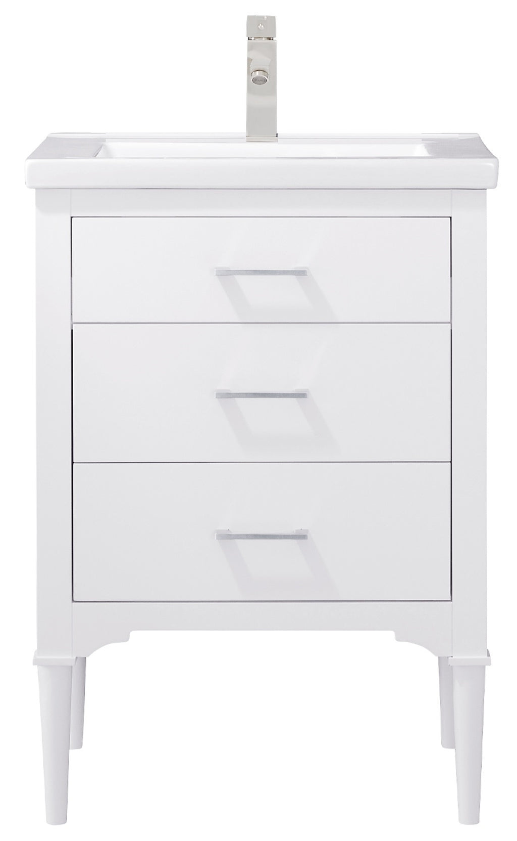 "Mason 24"" Single Sink Vanity In White"