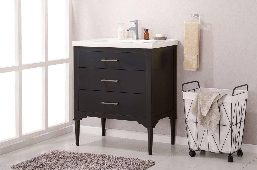 "Mason 30"" Single Sink Vanity In Espresso"