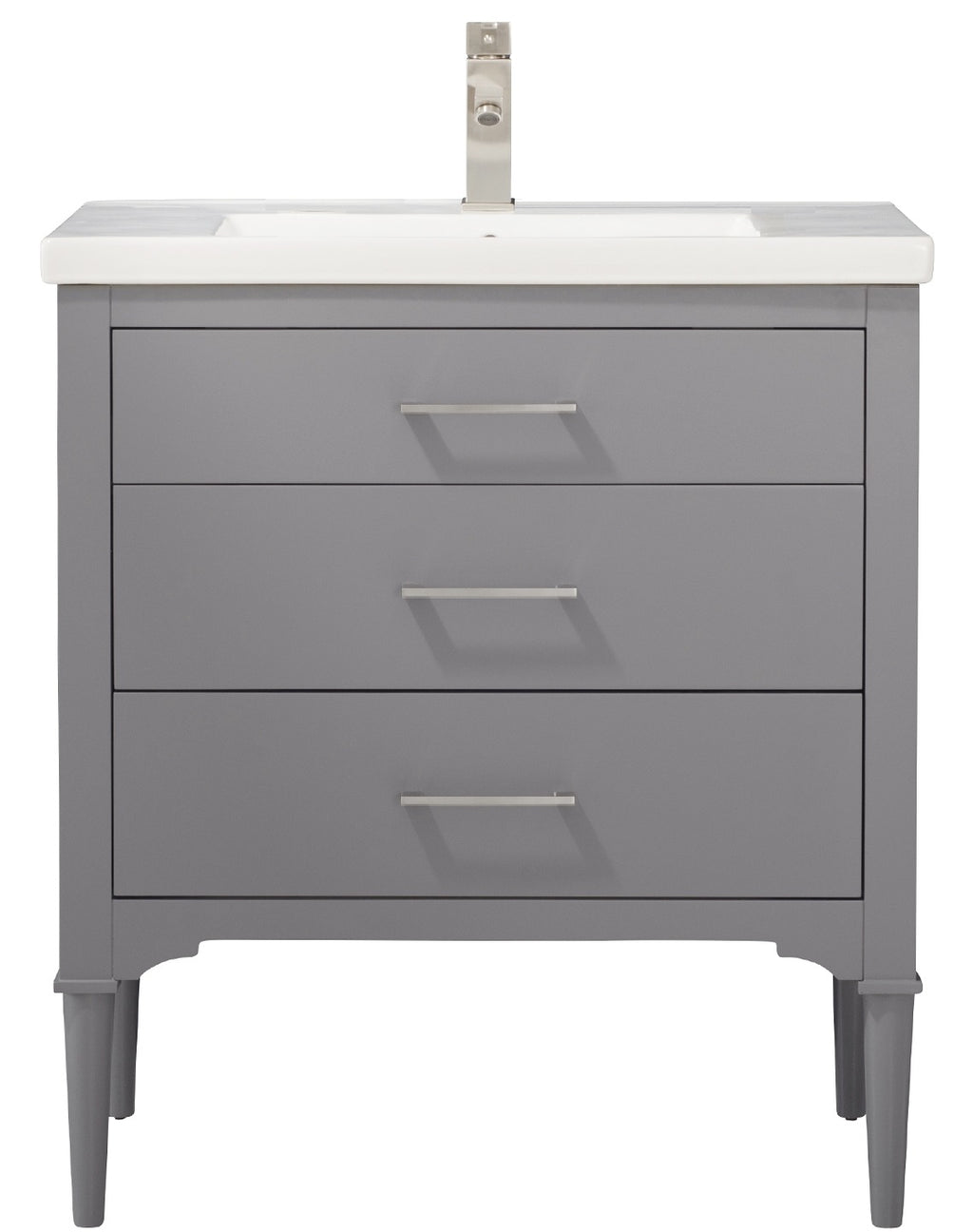 "Mason 30"" Single Sink Vanity In Gray"