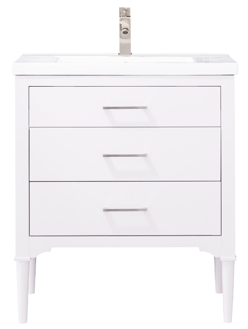 "Mason 30"" Single Sink Vanity In White"