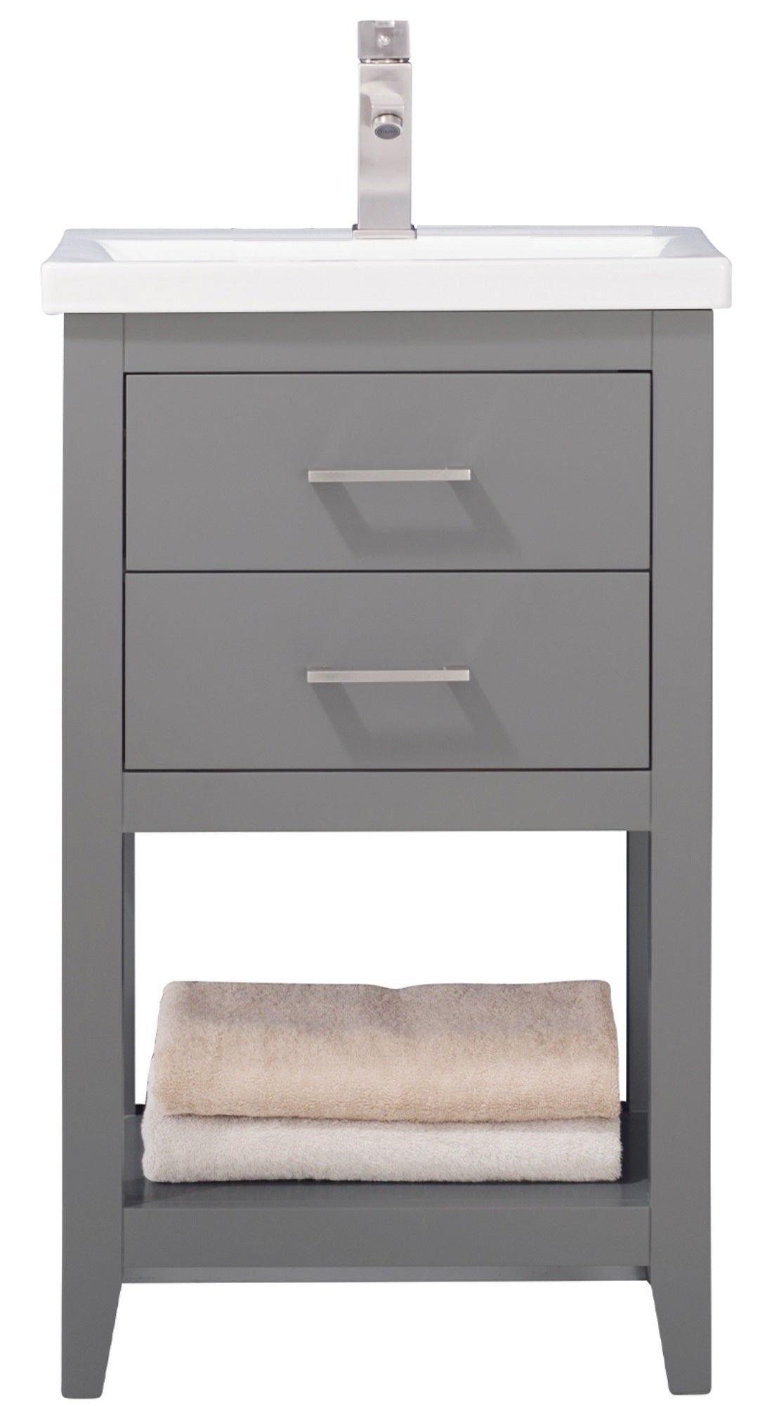 "Cara 20"" Single Sink Vanity In Gray"