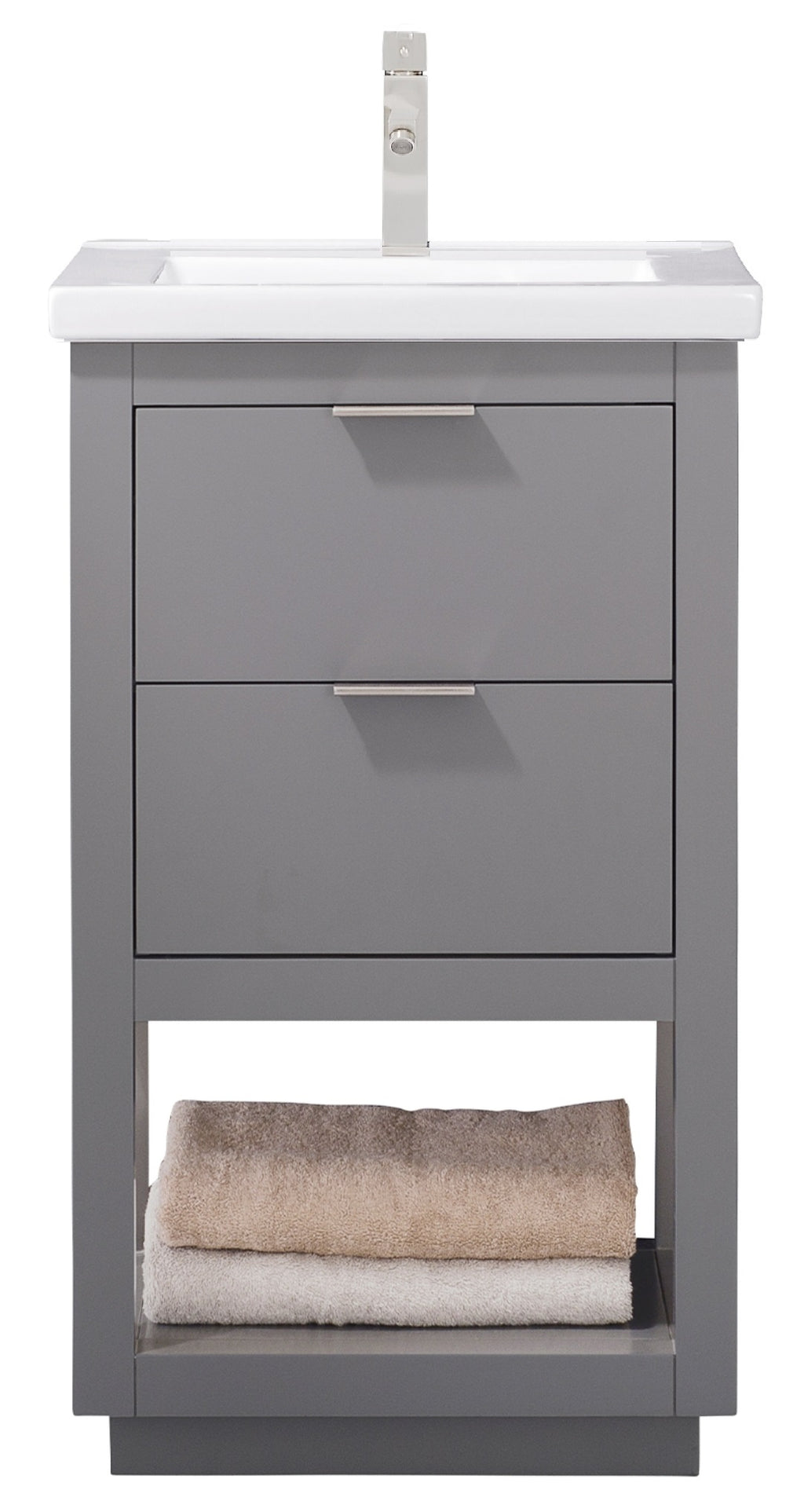 "Klein 20"" Single Sink Vanity In Gray"