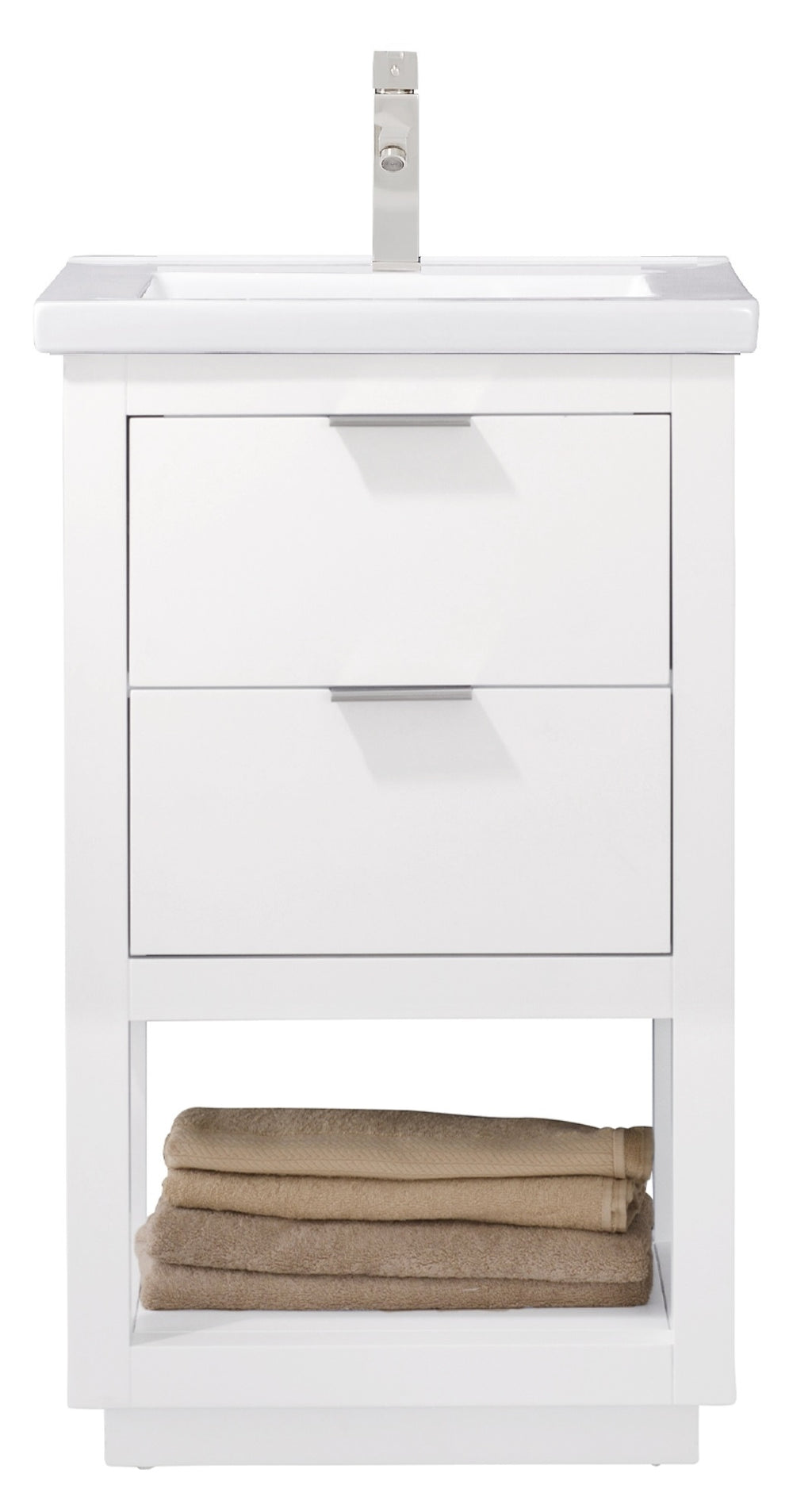 "Klein 20"" Single Sink Vanity In White"