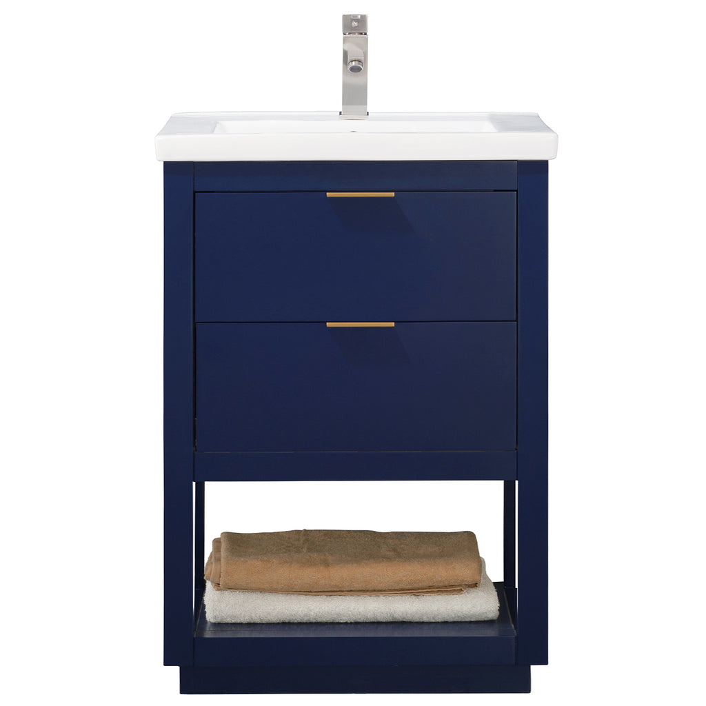 "Klein 24"" Single Sink Vanity In Blue"