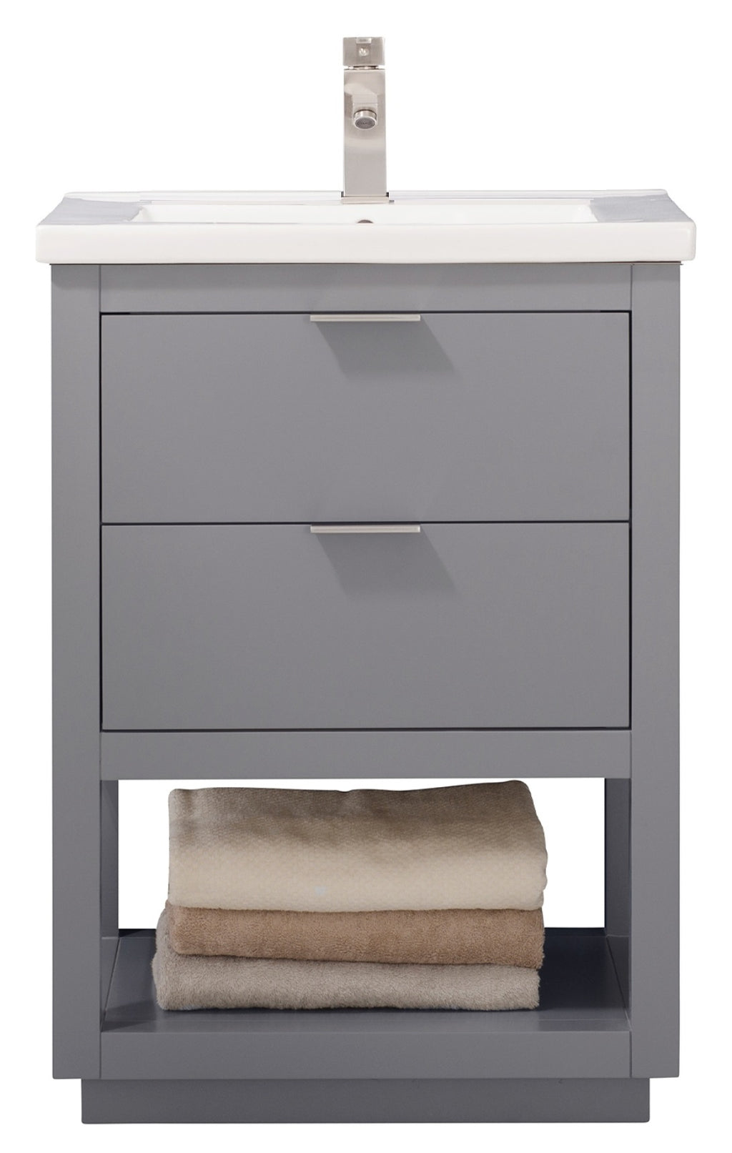 "Klein 24"" Single Sink Vanity In Gray"