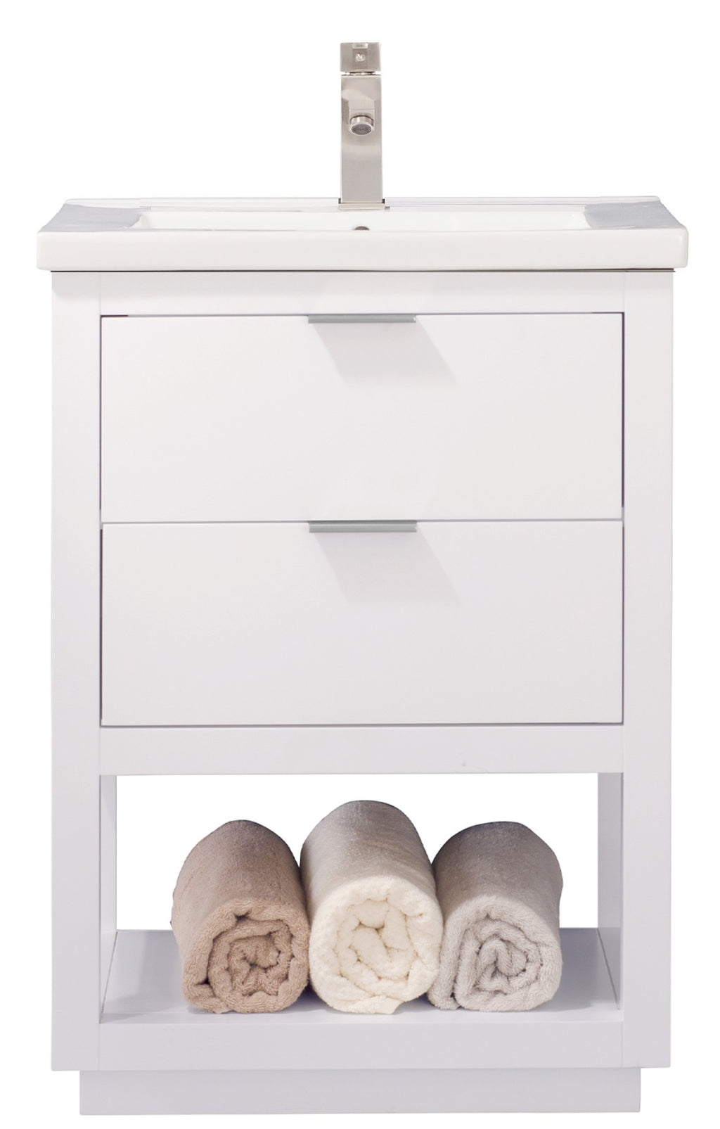 "Klein 24"" Single Sink Vanity In White"