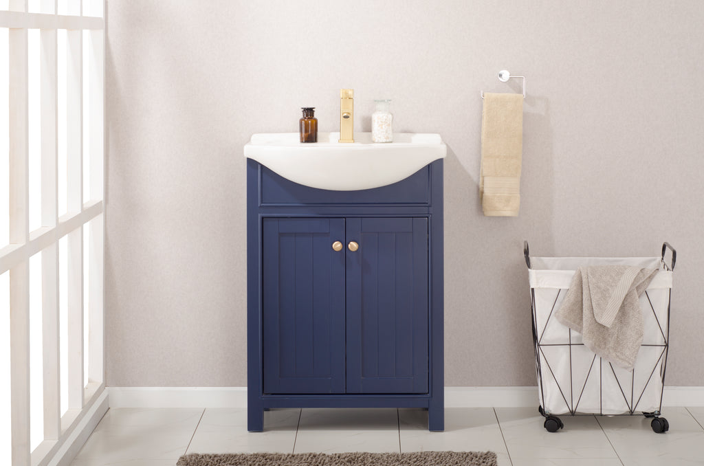 "Marian 24"" Single Sink Vanity In Blue"