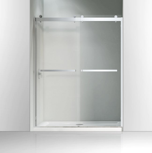 "60"" W X 76"" H Bypass Frameless Shower Door Chrome"