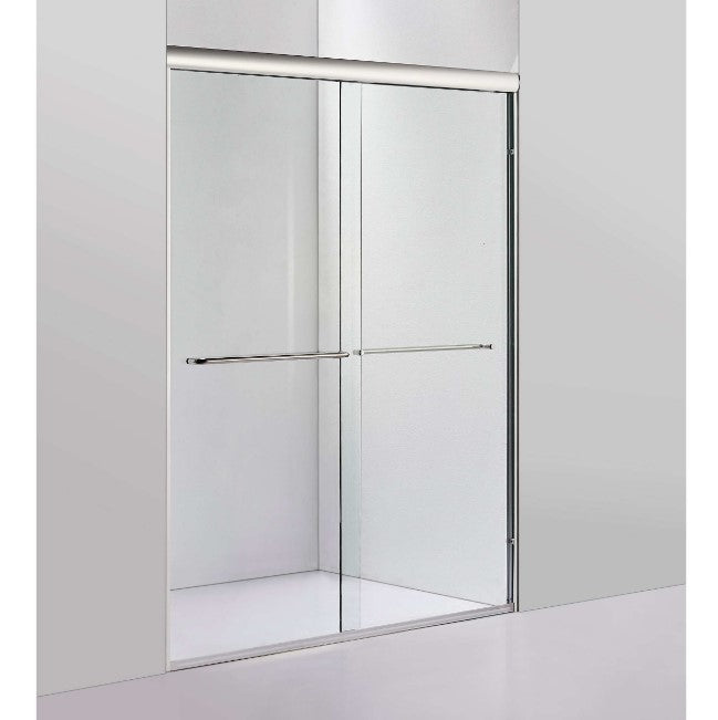 "60"" W X 72"" H Bypass Framed Shower Door Brushed Nickel"