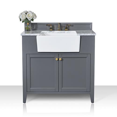 Adeline 36 in. Bath Vanity Set in Sapphire Gray