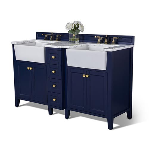 Adeline 60 in. Bath Vanity Set in Heritage Blue