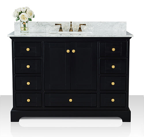 Audrey 48 in. Bath Vanity Set in Onyx Black