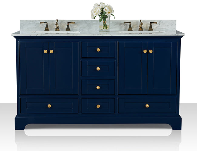Audrey 60 in. Bath Vanity Set in Heritage Blue