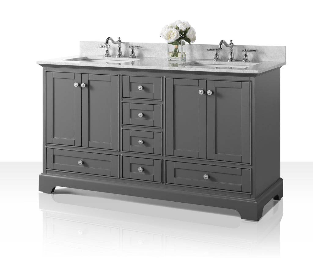 Audrey 60 in. Bath Vanity Set in Sapphire Gray