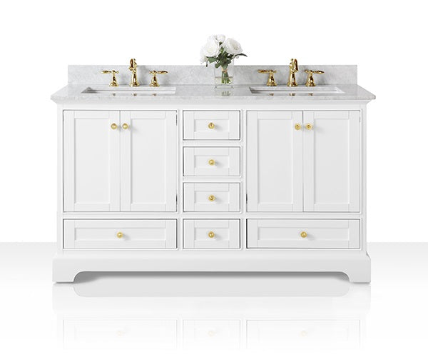 Audrey 60 in. Bath Vanity Set in White