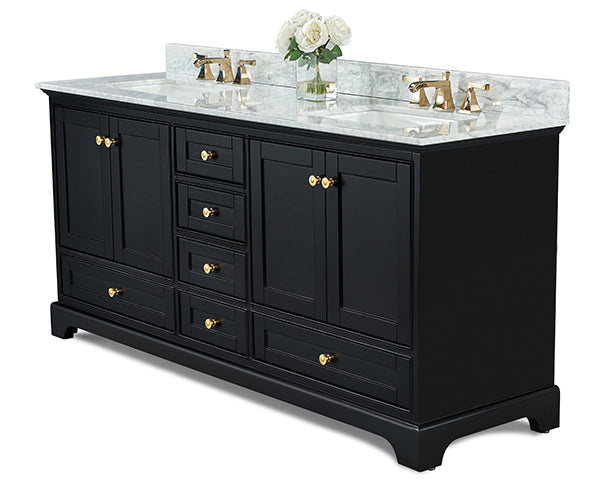 Audrey 72 in. Bath Vanity Set in Onyx Black