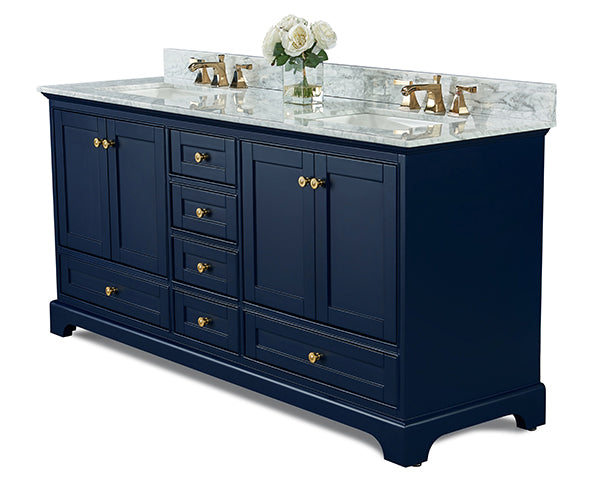 Audrey 72 in. Bath Vanity Set in Heritage Blue