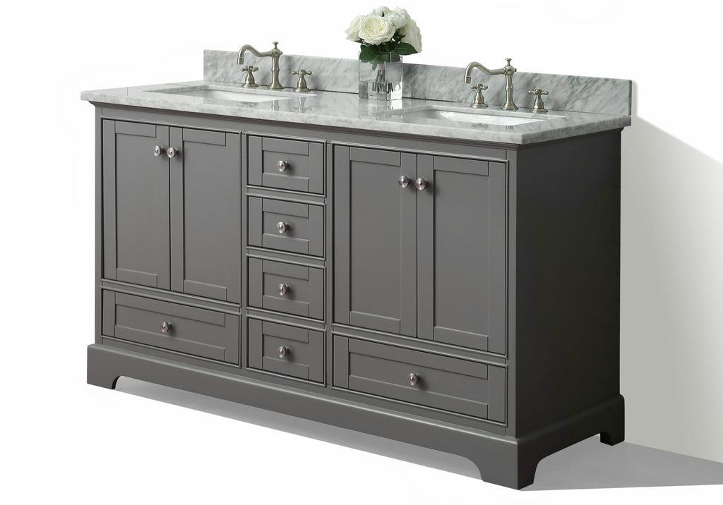 Audrey 72 in. Bath Vanity Set in Sapphire Gray