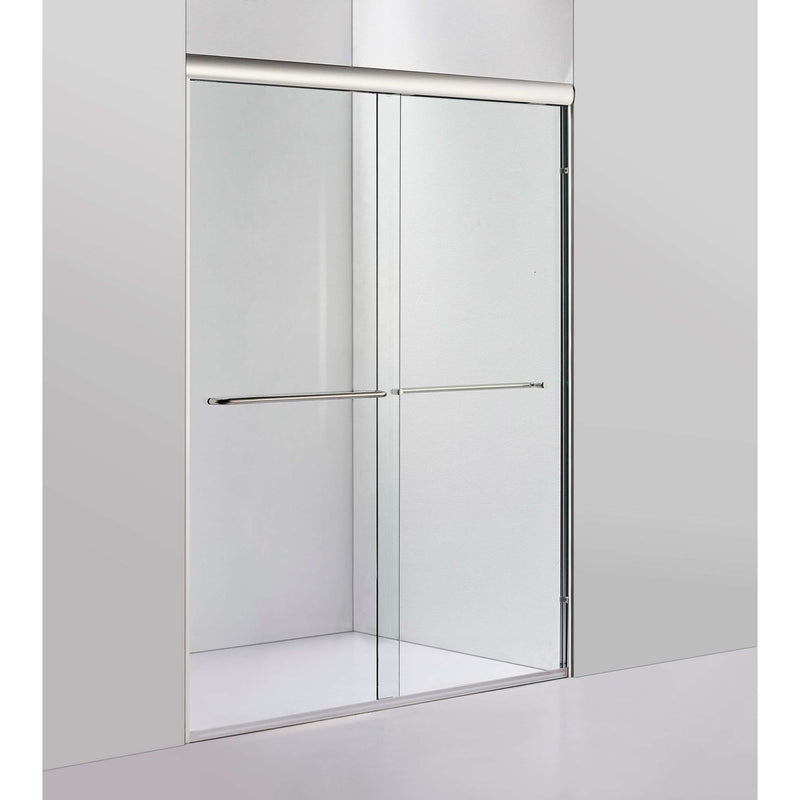 "60"" W X 72"" H Bypass Framed Shower Door Chrome"