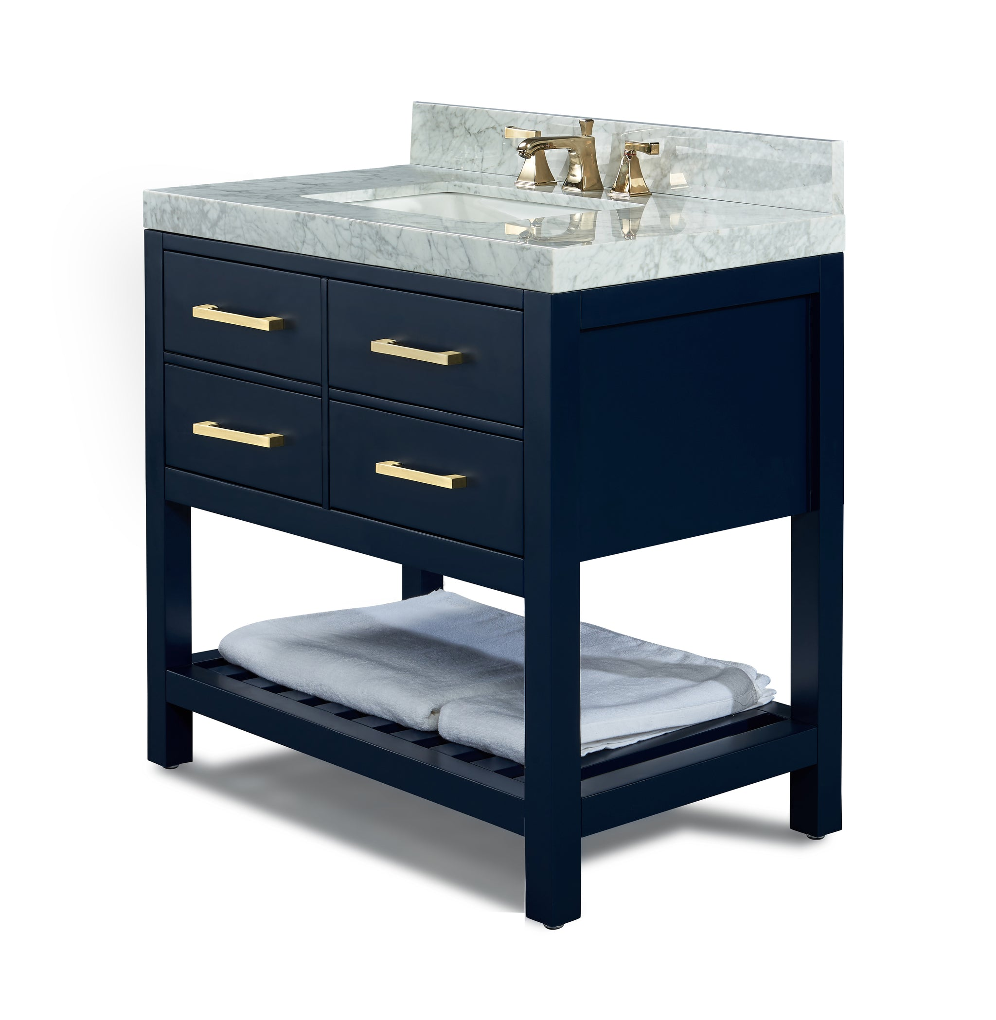 Elizabeth 36 in.Bath Vanity Set in Heritage Blue