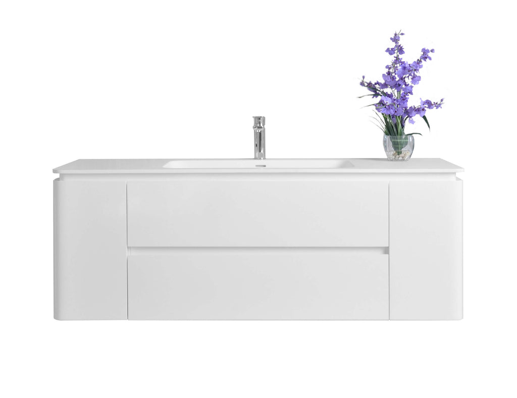 Gwyneth 55 in. Bath Vanity Set in White