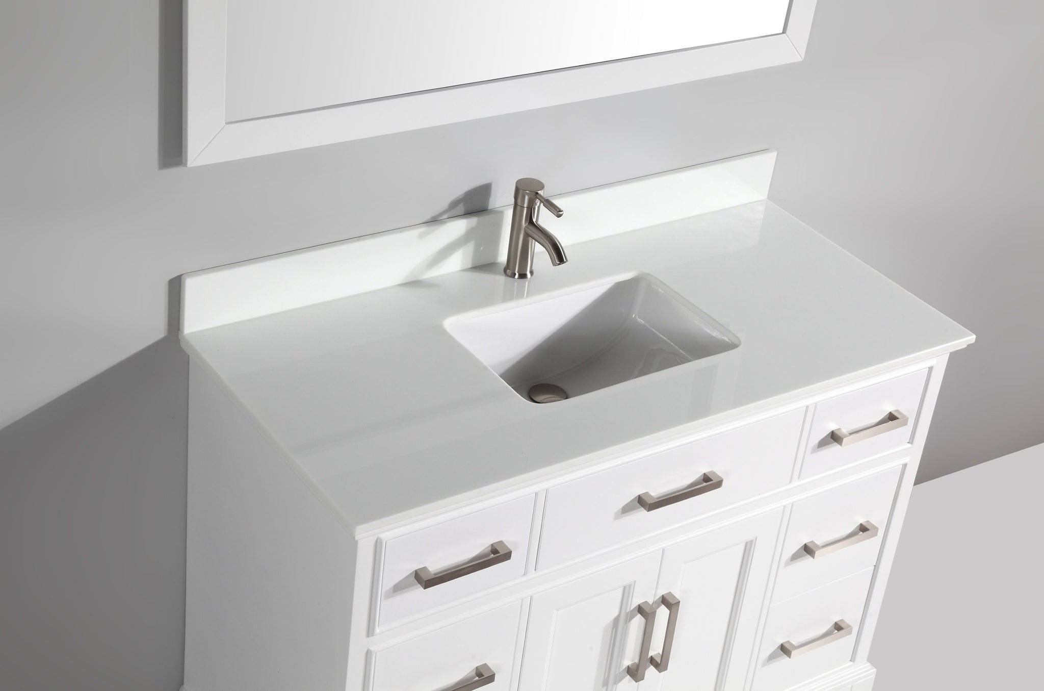 "48"" Single Sink Bathroom Vanity Set, White"