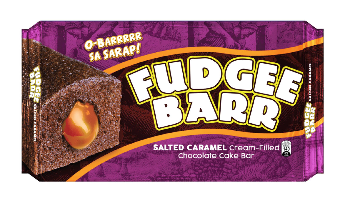Fudgee Barr Salted Caramel Cream-Filled Chocolate Cake Bar 38G X 10S