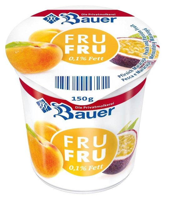 Bauer Fru Fru Peach Passion Yogurt 150G